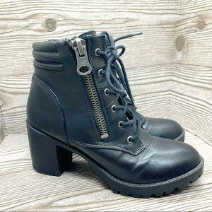 Steve Madden Nydiaa black heeled combat boots